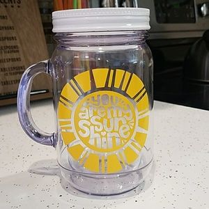 You Are My Sunshine Plastic Mason Jar Cup